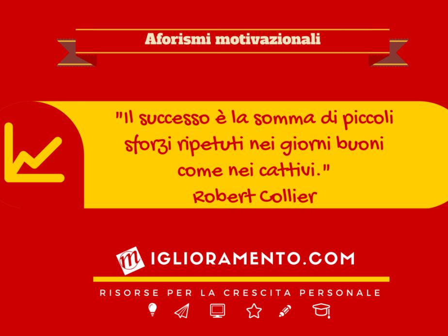 Aforisma motivazionale: la ricetta del successo secondoCollier